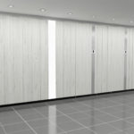 Stevens Washrooms - Commercial Washroom Installations - Bespoke Solid Wood Veneered Cubicle Systems