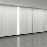 Stevens Washrooms - Commercial Washroom Installations - Bespoke Solid Wood Veneered Cubicle Systems