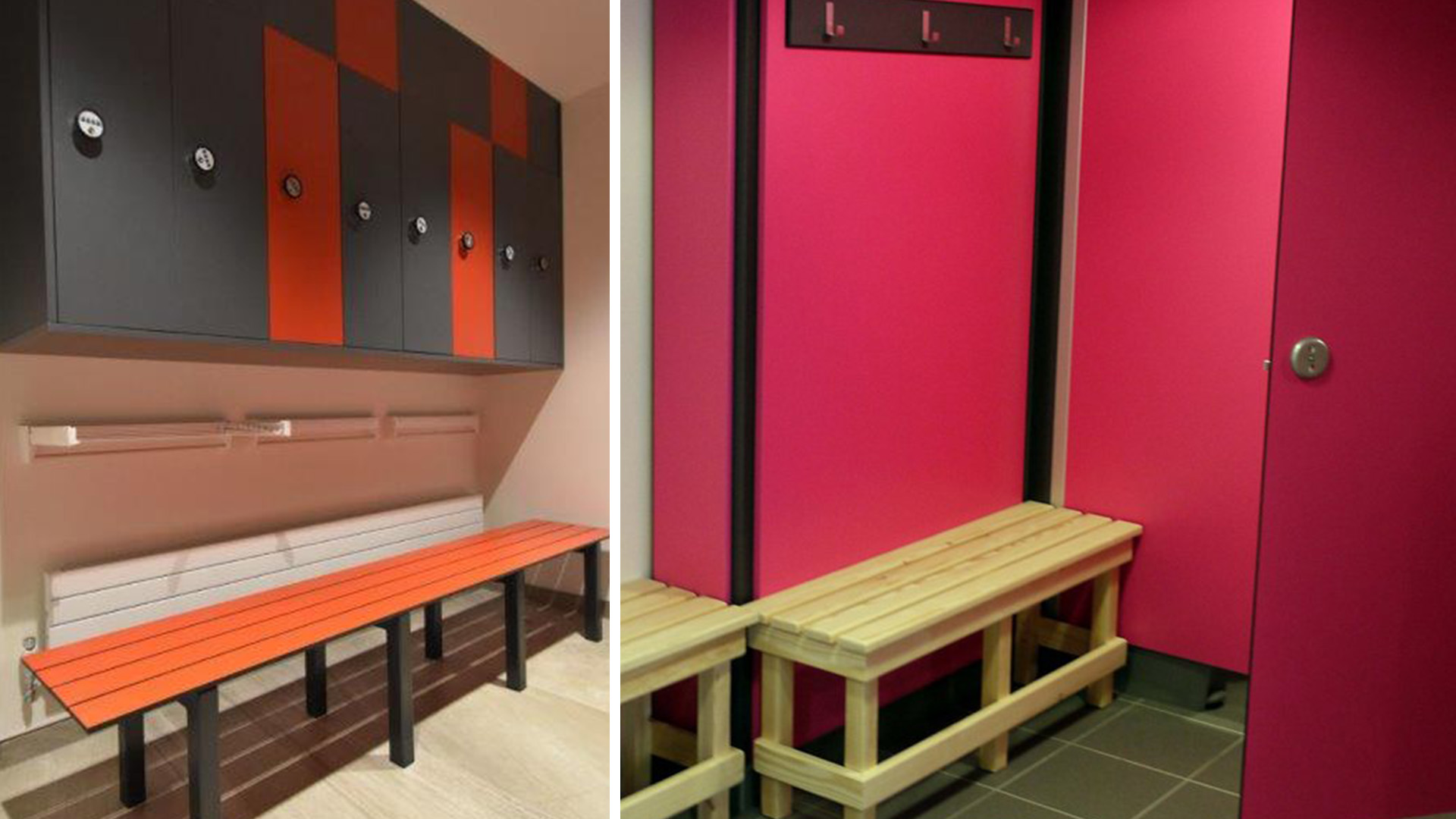 Stevens Washrooms - Commercial Washroom Installations - Sports Benches