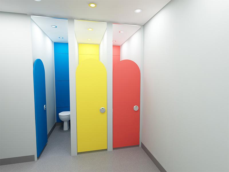 Children's Washroom Cubicles