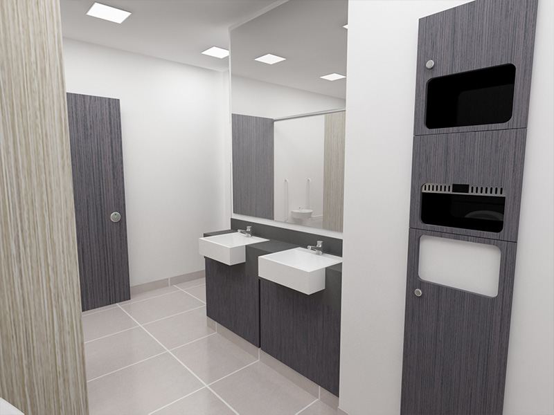 Bespoke washroom installation service from Stevens Washrooms