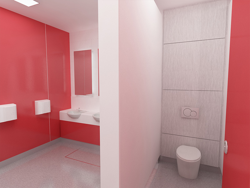 Bespoke washrooms from Stevens Washrooms