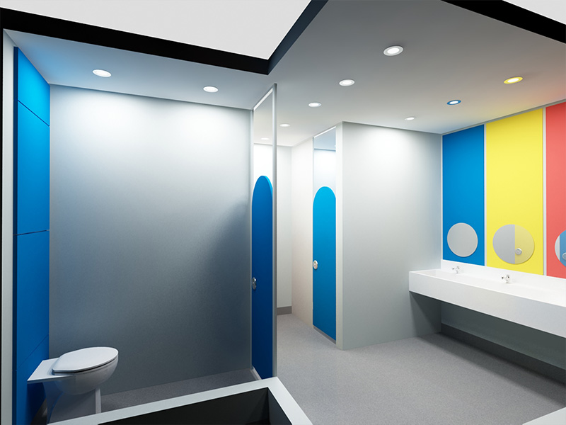 Bespoke nursery and school washrooms from Stevens Washrooms