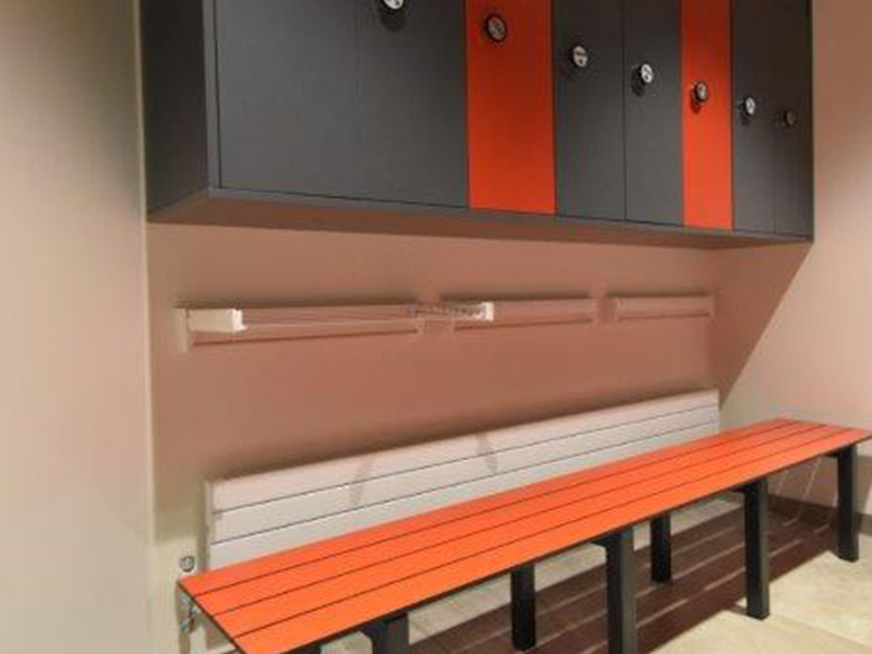 Bespoke locker and bench installations from Stevens Washrooms