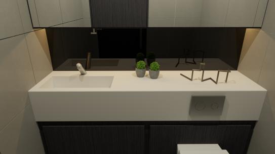 Unisex Washroom concept.